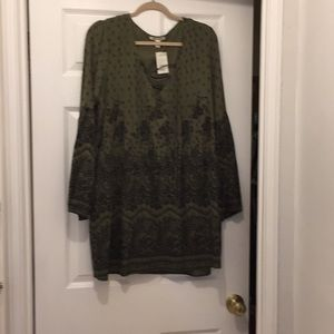 Billabong fall dress - NWT - olive green and black